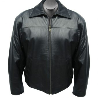 Custom Embroidered Logo Leather Jacket
