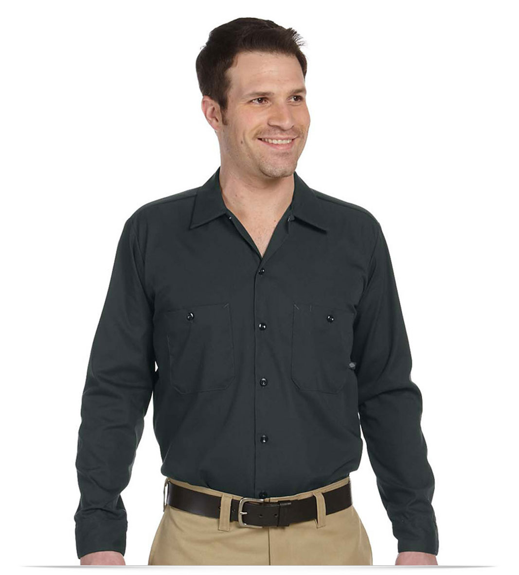 Design custom dickies industrial work shirt online at for Embroidered dickies work shirts