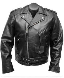 Custom Logo Motorcycle Leather Jacket