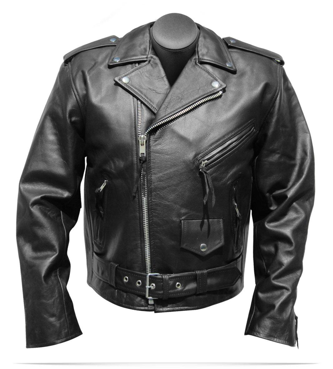 Custom Logo Motorcycle Leather Jacket