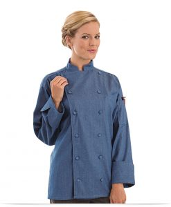 Personalized Chef Jacket Denim