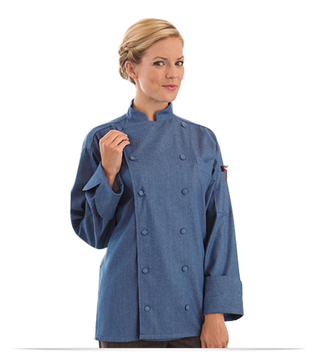 Personalized Chef Jacket Denim