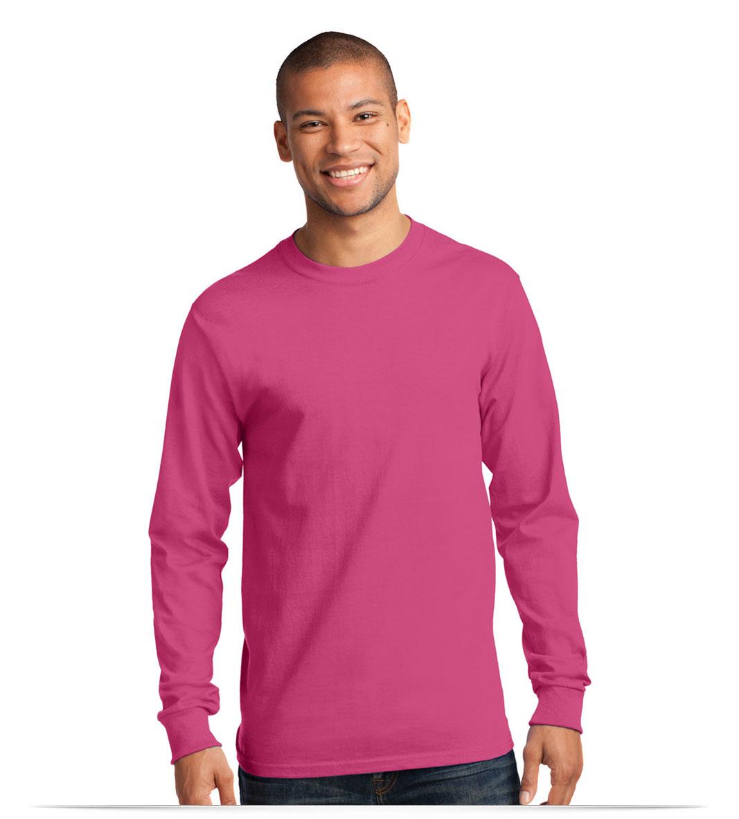 Design embroidered custom logo long sleeve t shirt online for Custom printed long sleeve t shirts