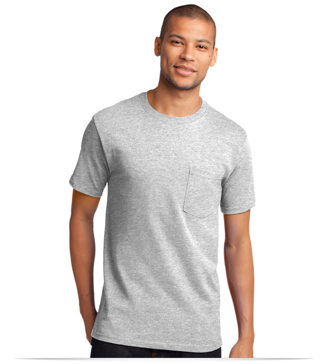 Men's Cotton Pocket T-Shirt with Embroidered Logo