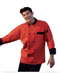 Customize 10 Button Embroidered Chef Jacket
