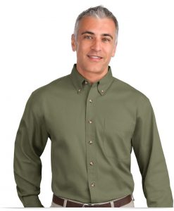 Personalized Long Sleeve Twill Shirt
