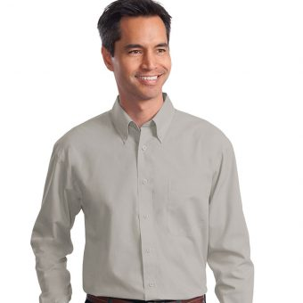 Custom Long Sleeve Poplin Shirt