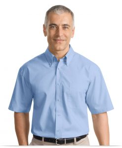 Personalized Short Sleeve Value Poplin Shirt