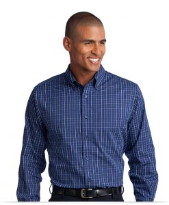 Personalized Checkered Easy Care Shirt