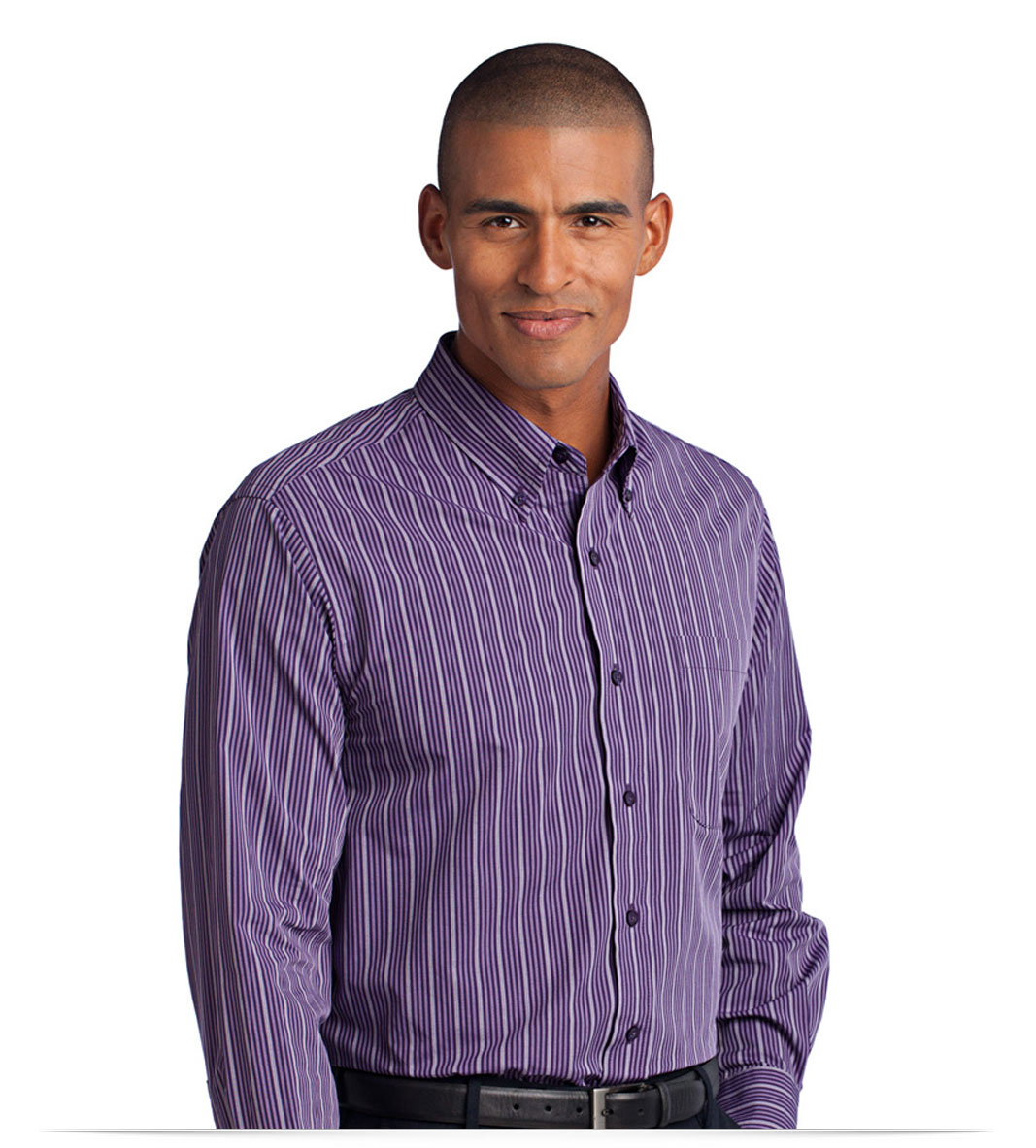 Customize Vertical Stripe Easy Care Shirt