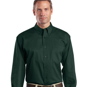 Men's Long Sleeve Twill Shirt With Embroidered Logo