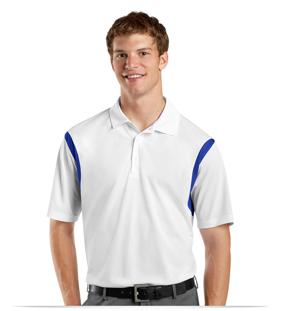 Embroidered Men's Dry Wick Sport Shirt
