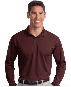 Personalized Long Sleeve Dri-Wick Polo Shirt