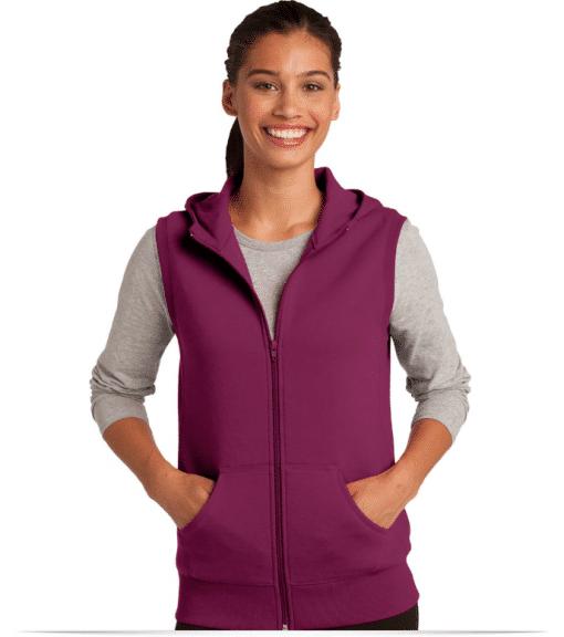 Personalized Sport-Tek Ladies Hooded Fleece Vest