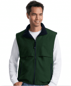 Embroidered Fleece Vest Reversible