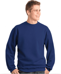 Custom Printed Crewneck Sweatshirt Sueded Fleece
