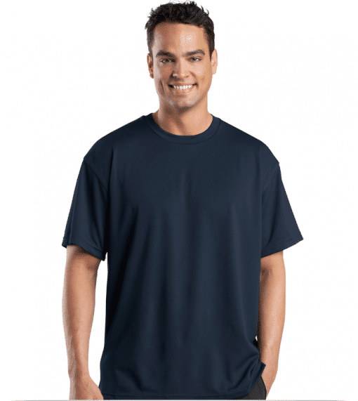 Custom Port Authority Dri Mesh Short Sleeve T-Shirt