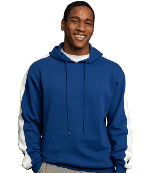 Hooded Embroidered Fleece Pullover