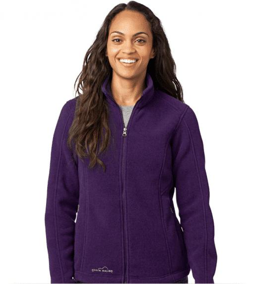 Custom Logo Eddie Bauer Ladies Full-Zip Fleece Jacket