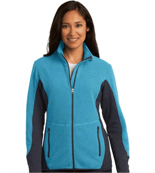 Custom Port Authority Ladies Fleece Full-Zip Jacket