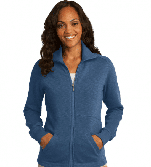Custom Port Authority Ladies Slub Fleece Full-Zip Jacket