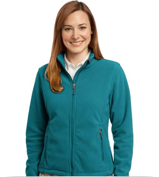 Custom Embroidered Ladies Fleece Jacket
