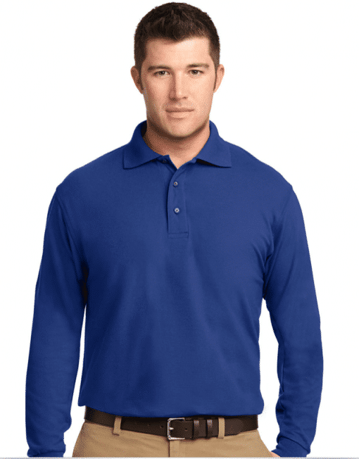 Custom Logo Long Sleeve Polo Shirt