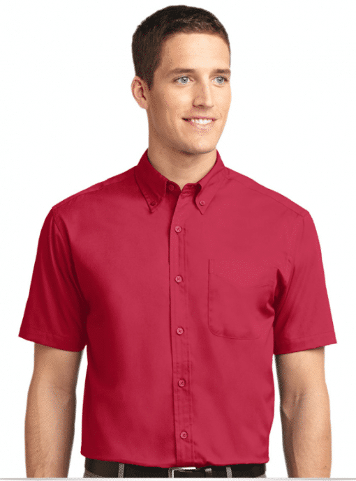 Embroidered Short Sleeve Easy Care Shirt