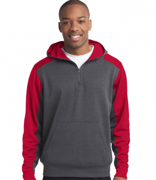 Custom Colorblock Zip Hooded Sweatshirt
