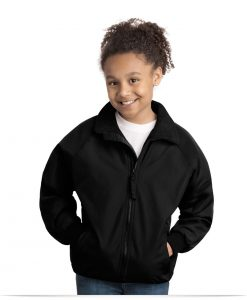 Embroidered Logo Kid's School Jacket
