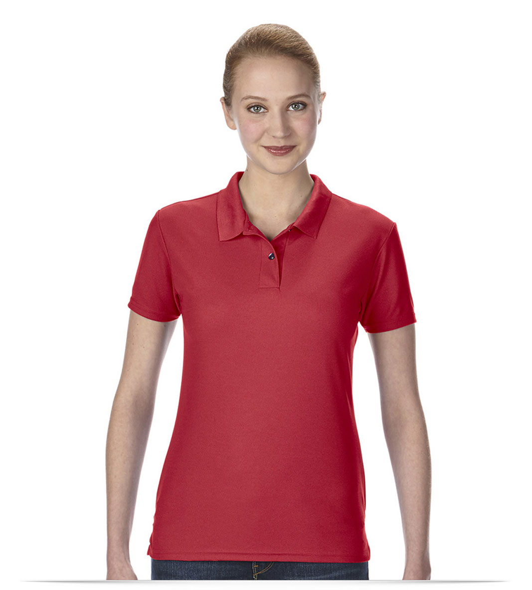 Embroidered Ladies Performance Piqué Polo
