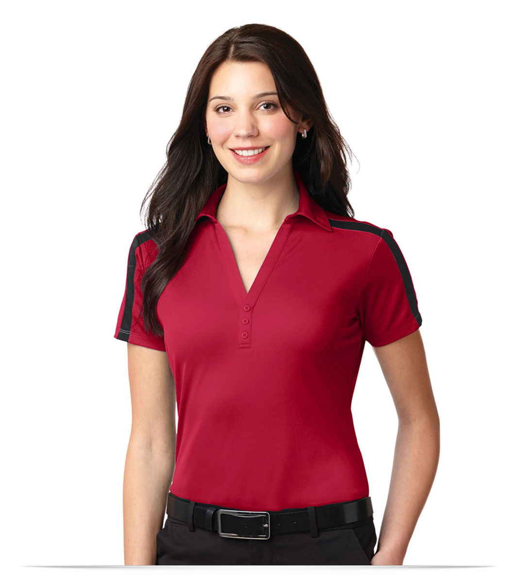 Personalized Port Authority Ladies Dri-Fit Stripe Polo Shirt