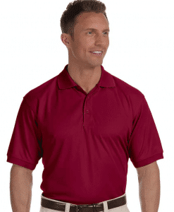Custome Men's Dri-Fast Solid Mesh Polo