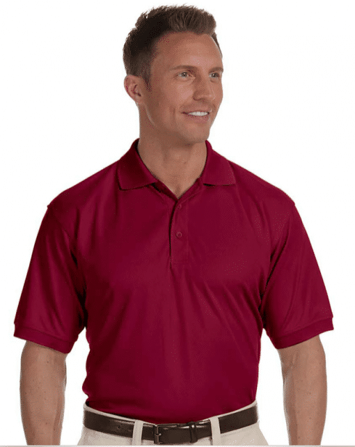 Custome Men's Dri-Fast Solid Mesh Polo