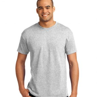 Hanes 50/50 T-Shirt with Embroidered Custom Logo