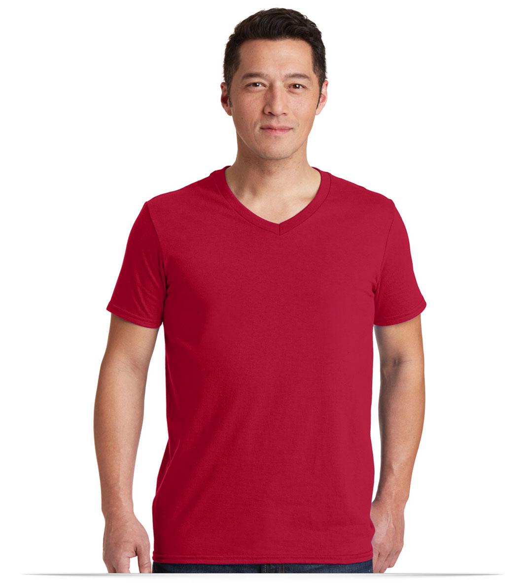 Personalized Logo Gildan V-Neck T-Shirt
