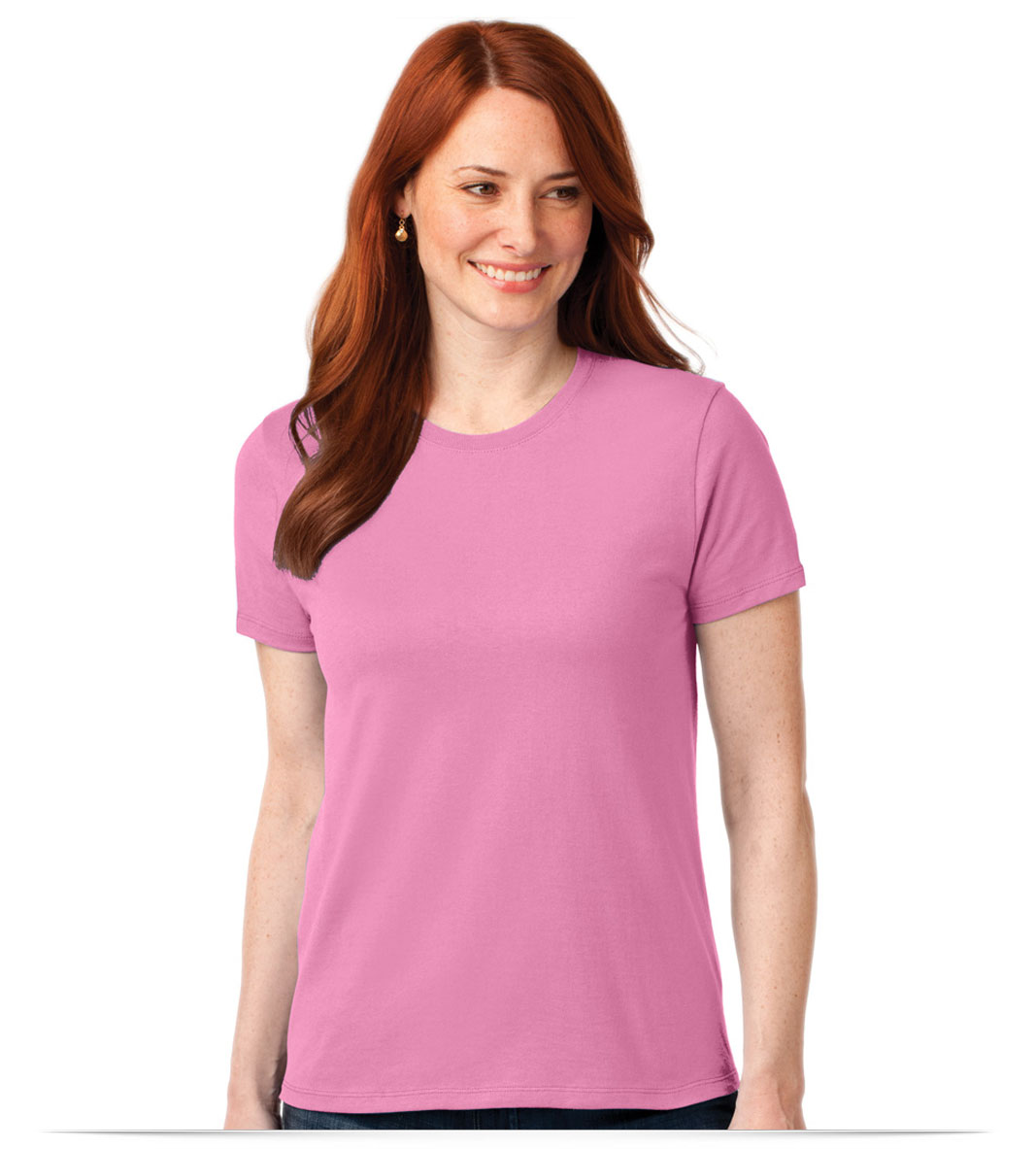 Customize Port and Company Ladies Cotton/Poly T-Shirt