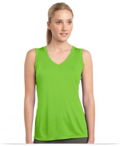 Customize Sport-Tek Ladies Sleeveless V-Neck Tee