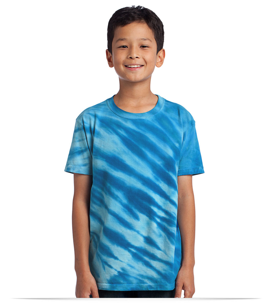 Personalized Port and Company Youth Tiger Stripe Tie-Dye Tee
