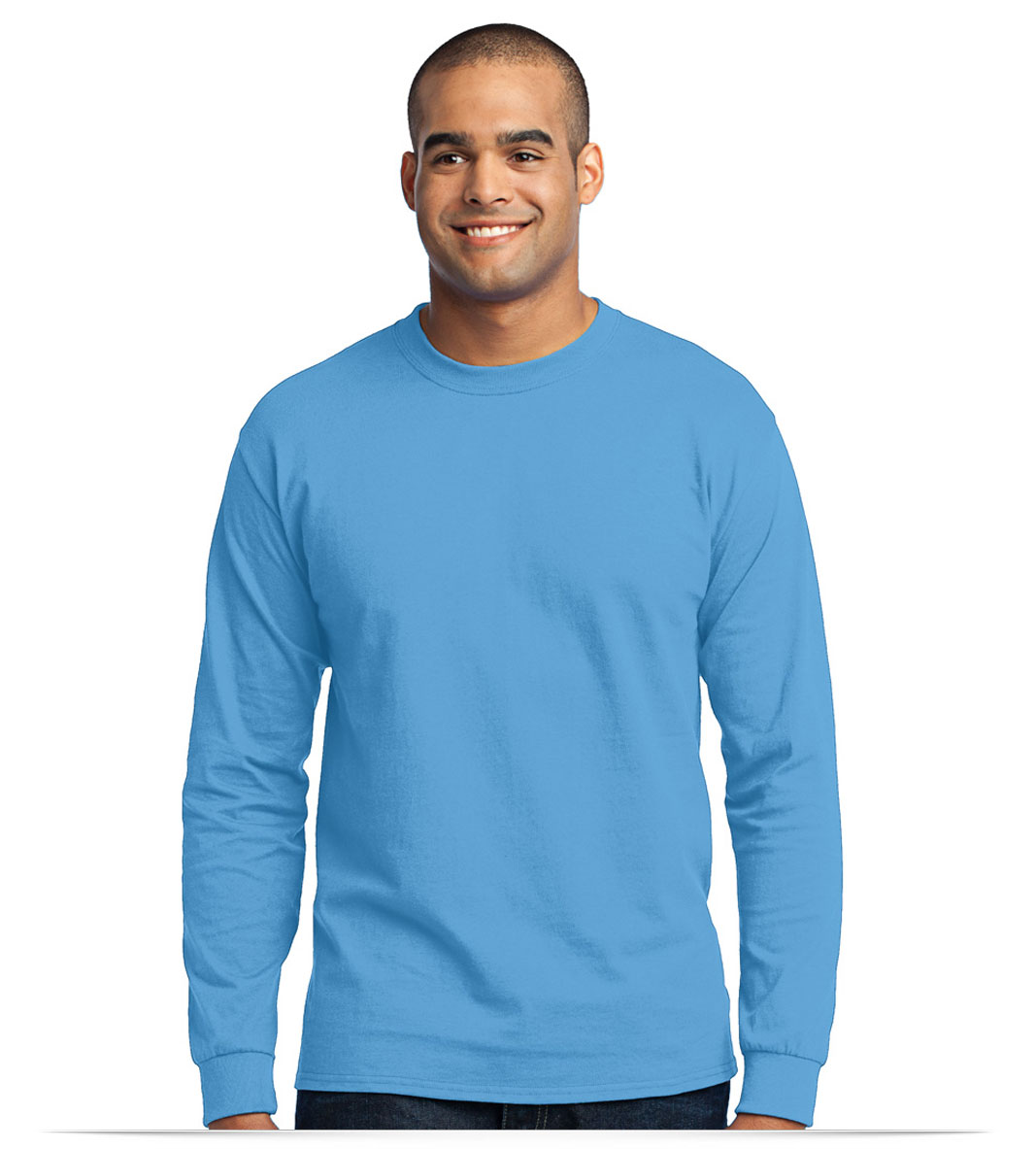 Customize Port and Company Long Sleeve Cotton/Poly Tee