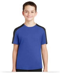Custom Sport-Tek Youth Sleeve-Blocked Tee