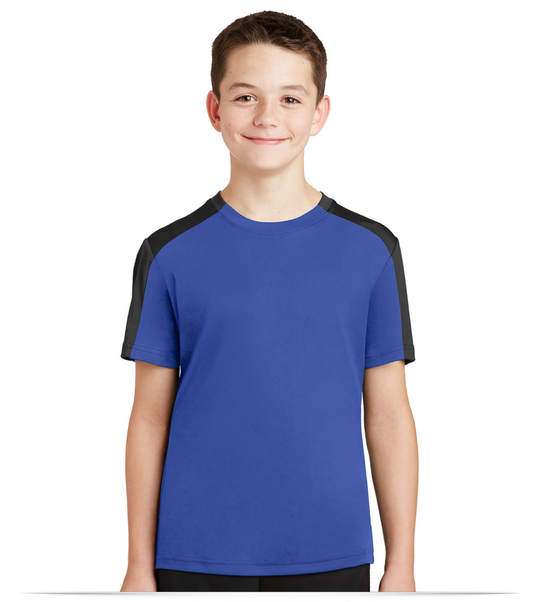 Custom Sport-Tek Youth Sleeve-Blocked Tee