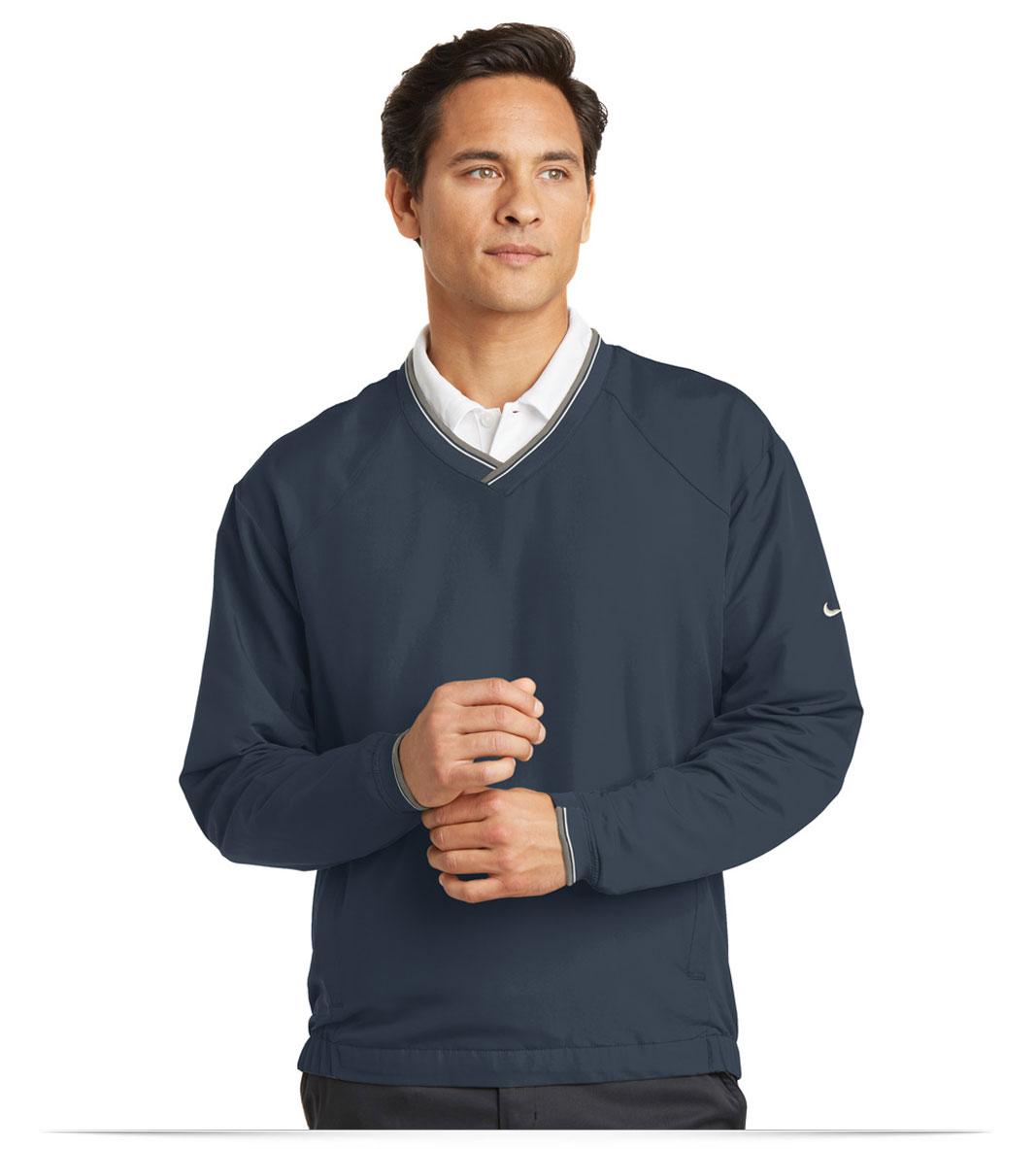 Customize Nike Golf – V-Neck Wind Shirt