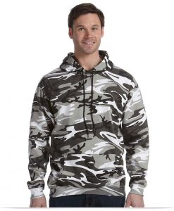 Design Code Five Camouflage Pullover Hooded Sweatshirt