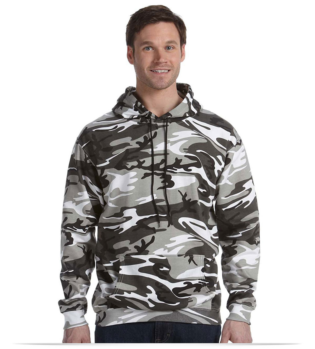 Design Code Five Camouflage Pullover Hooded Sweatshirt