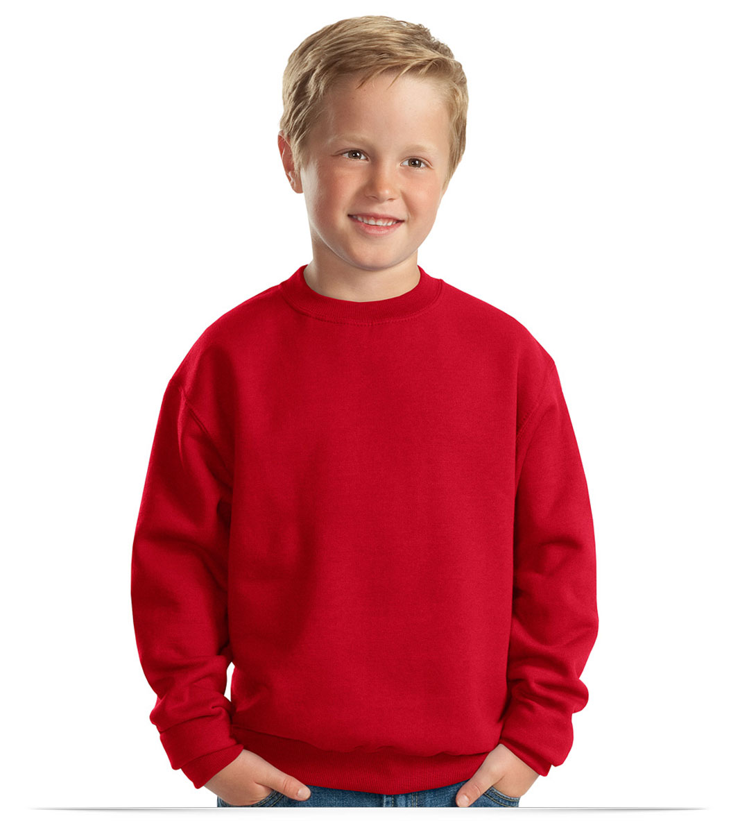 Custom Jerzees Youth Crewneck Sweatshirt