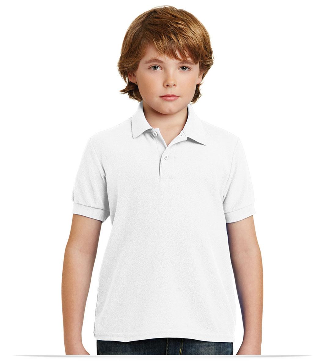 Customize Gildan Youth DryBlend Pique Sport Shirt