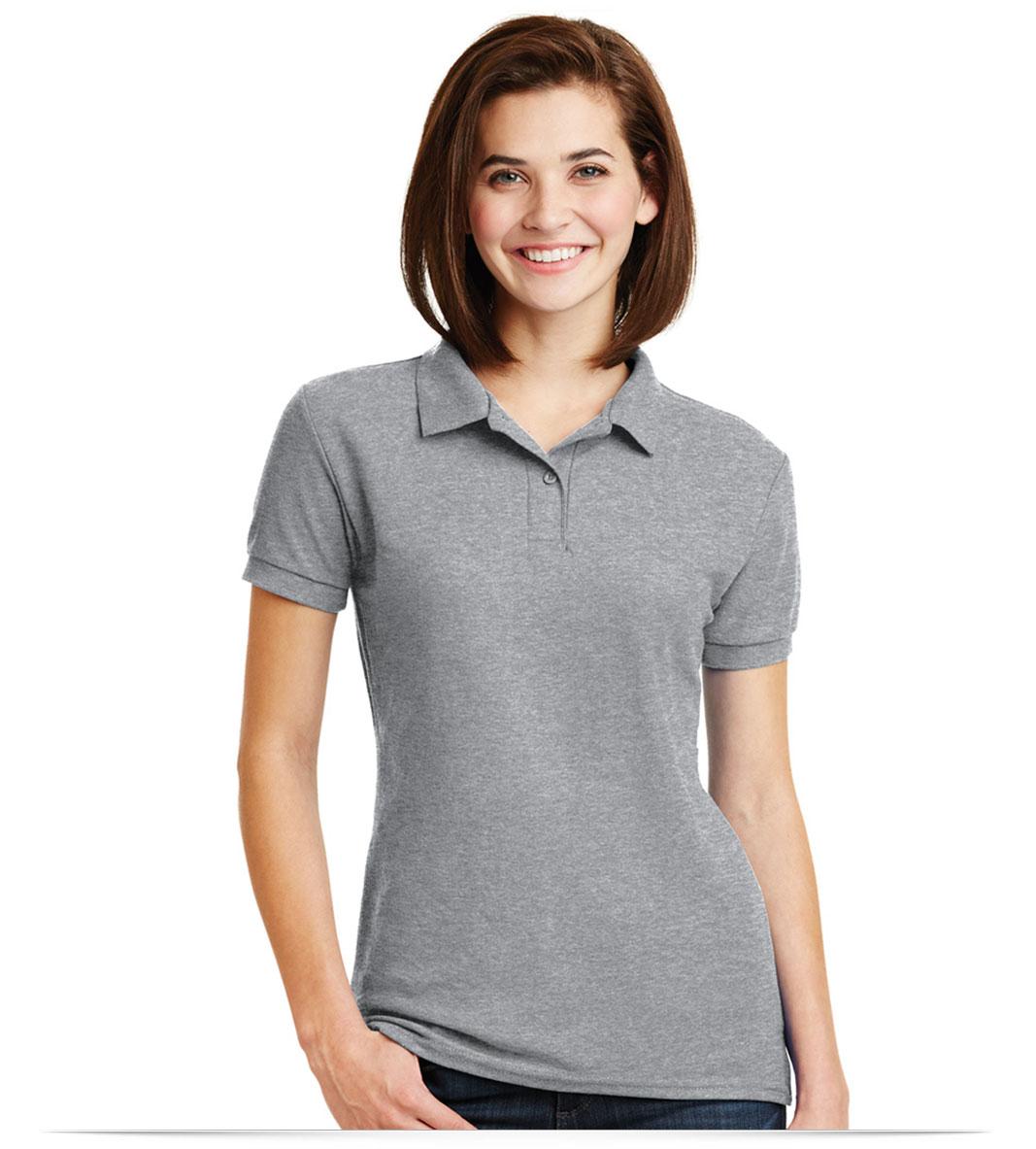 Customize Gildan Ladies Pique Sport Shirt