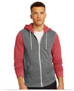 Personalized Alternative Colorblock Rocky Eco-Fleece Zip Hoodie