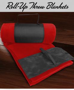 Custom Rollup Throw Blankets